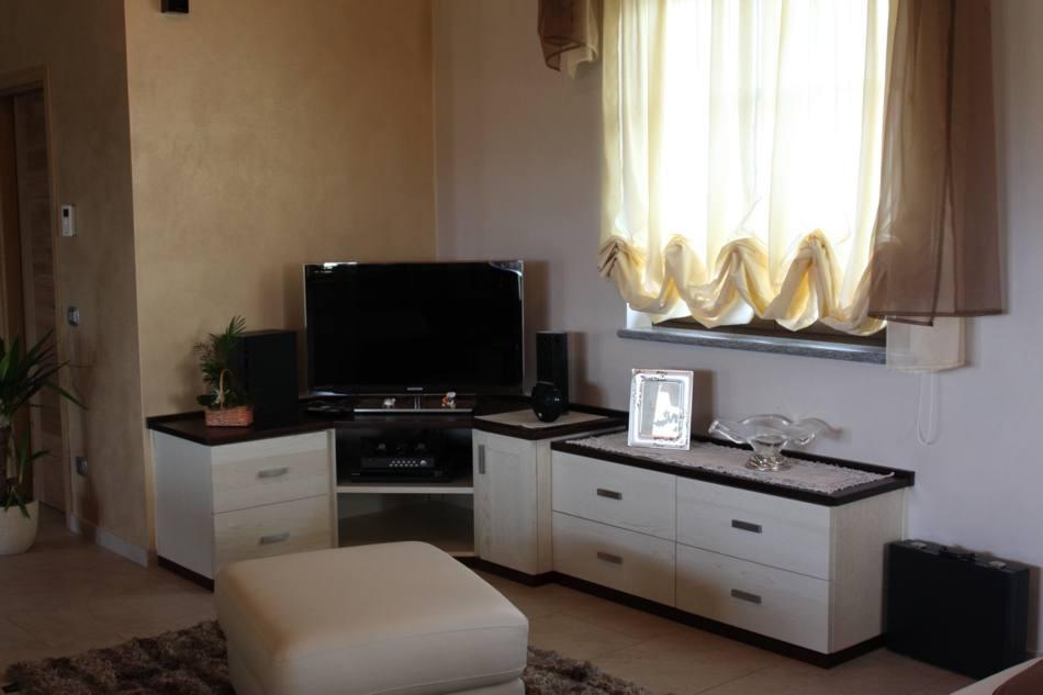 Mobile tv angolare for Mobile basso soggiorno moderno
